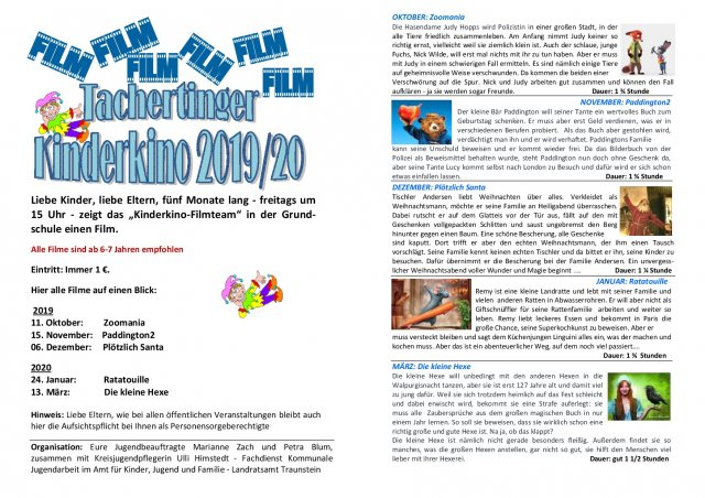 Kinderkinoprogramm 2019/2020