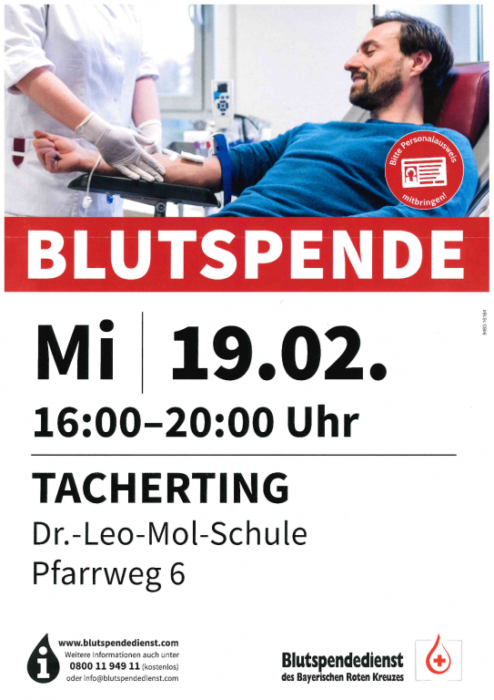 Blutspenden in Tacherting